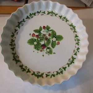 Summer Strawberries Portmeirion Quiche Baking Pan